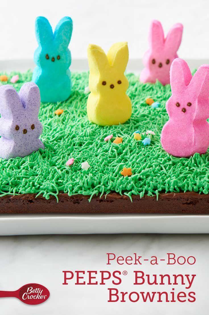 Peek A Boo Peeps Bunny Brownies Recipe Easter Dessert Easter