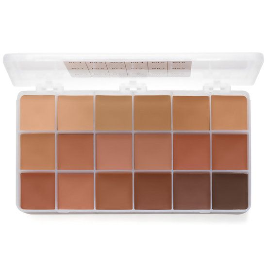 The Large Economy Palette contains approximately 3/4 oz of each shade. The colors included are KO-1 through KO-8, KT-1, KT-2, MB-1 through MB-8. (18 colors)  These foundations were developed by renown makeup artist Vincent J-R Kehoe. As President and Director of the Research Council of Make-up Artists, he designed and produced a foundation that has been the choice of professionals and celebrities for decades. These palettes are a must for any artists looking to build a better kit. High ...