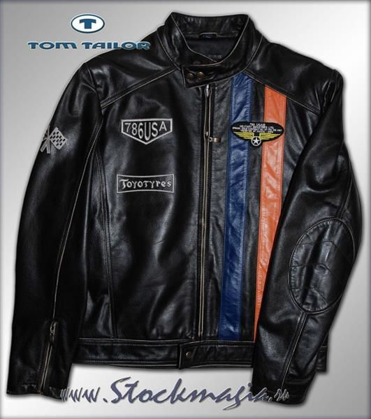 Куртка кожаная мужская tom tailor
