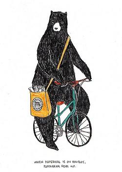bear on a bike illustration