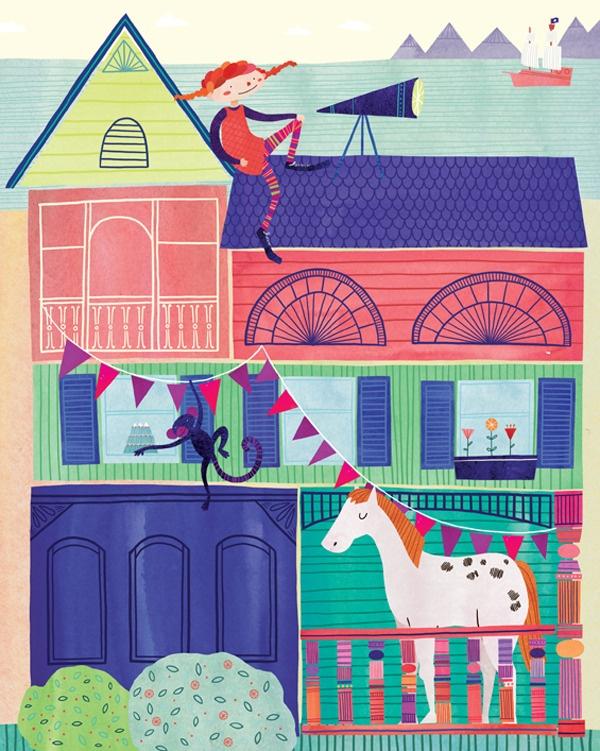 #Pippi Longstockings ( Pippi Långstrump) by Marisa Seguin Illustration  Design