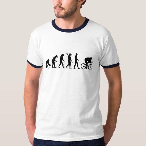 Cycling Evolution T-shirt. De evolutie van het fietsen. Zazzle.