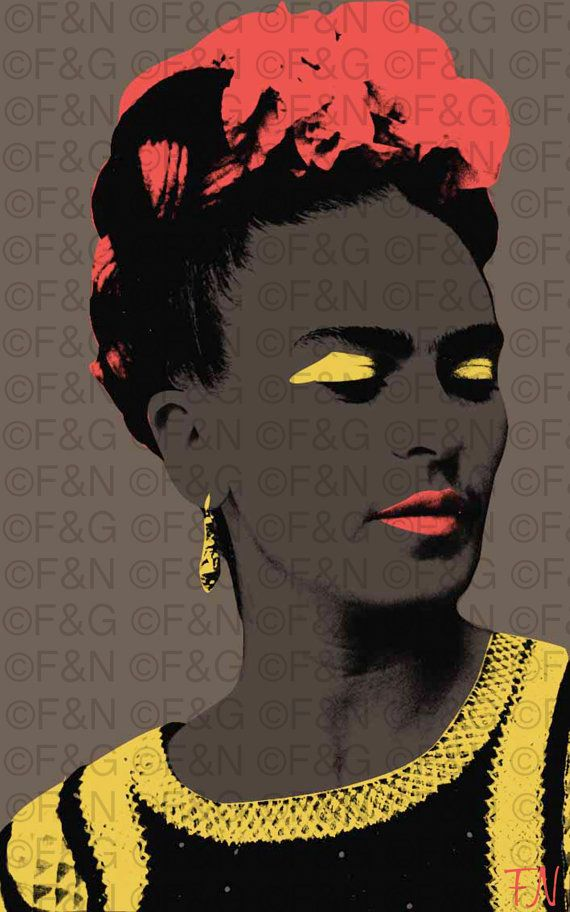 FRIDA KAHLO - Printable Poster - 25x40 cm, A3, A4, Warhol, Pop Art, Portrait, Mexican Artist, Wall decor, Digital Poster, Artwork - FK4