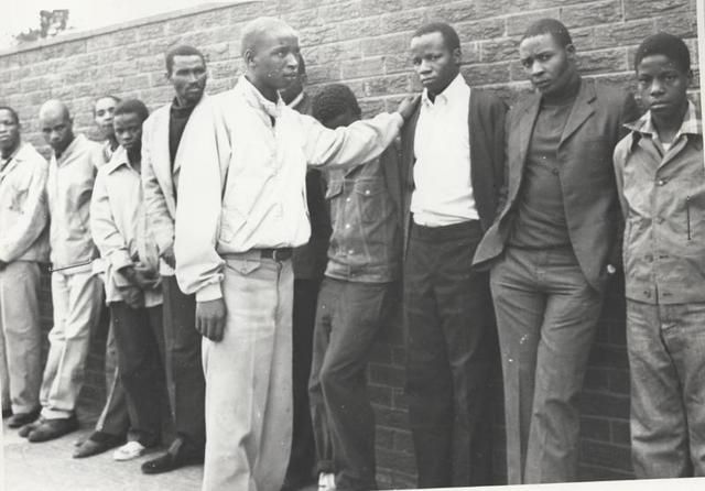 Solomon Mahlangu - operative of the (ANC) militant wing, Umkhonto weSizwe (MK). Convicted of murder by the then-apartheid administration, Mahlangu was hanged in 1979