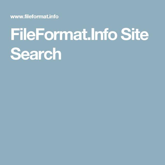 FileFormat.Info Site Search