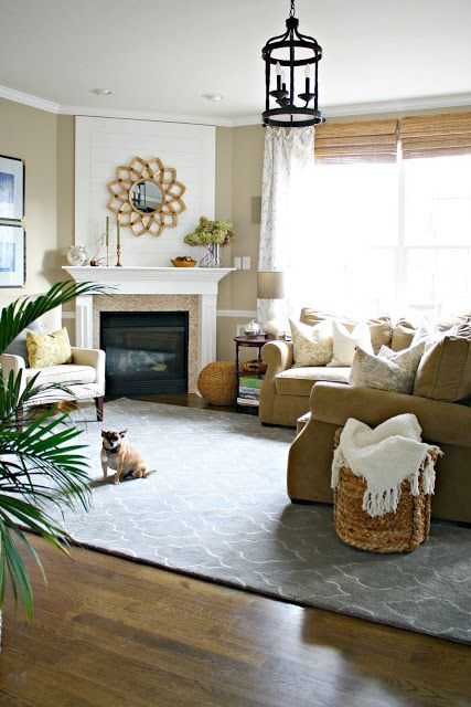 Thrifty Decor Chick: Our Home she's actually busted out the wall and working on making this a huge room-clever girl-looks great!