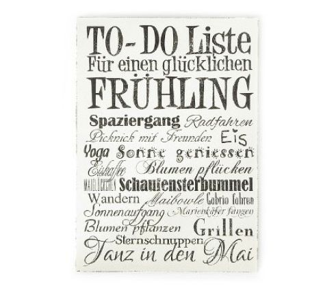 To Do Liste Frühling