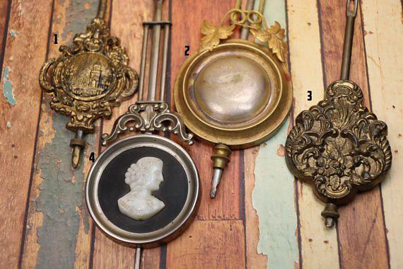 1 Antique Fancy Clock Pendulum