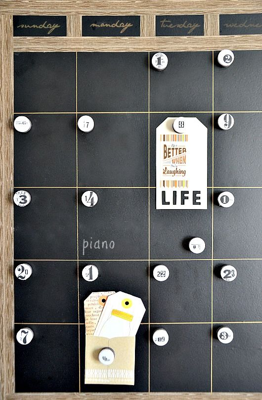 DIY Magnetic Chalkboard Calendar and Magnets from The 36th Avenue | Friday Favorites at www.andersonandgrant.com