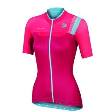 Sportful Bodyfit Pro wielershirt korte mouw dames roze turqoise