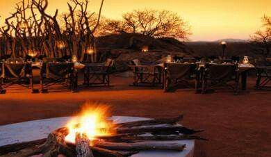 This is where you meet after a long day of safaris