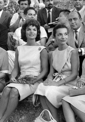Jackie Kennedy and her sister Lee Radziwill in Greece, 1961