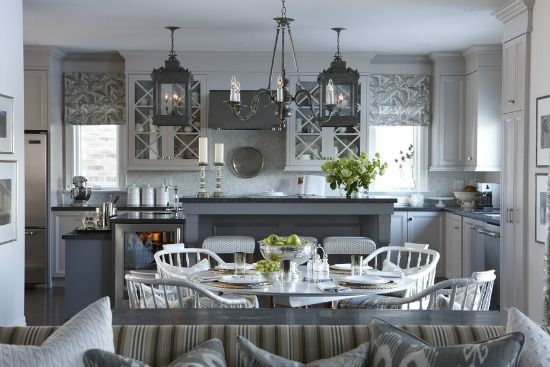 shades: Decor, Sarah Richardson, Ideas, Lights Fixtures, Sarah Houses, Colors, Grey Kitchens, Gray Kitchens, Kitchens Cabinets