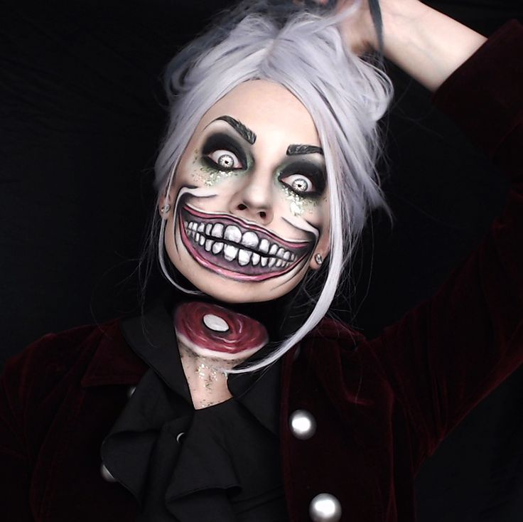 Dullahan Makeup Costume Smile Horror Creepy Scary Halloween