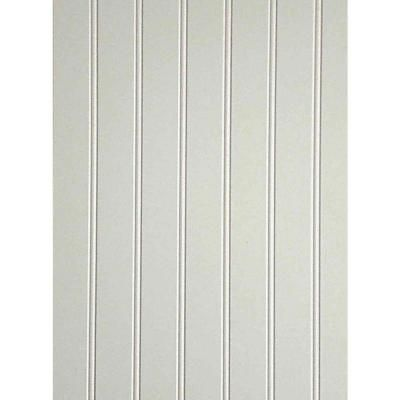 10 sq. ft. White MDF Beaded Wainscot Panel-739557 - The Home Depot