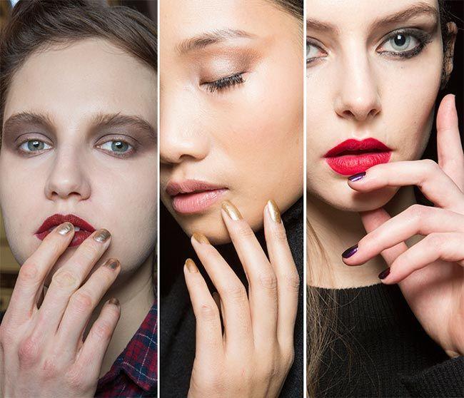 Осень/ Зима 2015-2016 ногтевых тенденций: металлик и драгоценный камень лак для ногтей цвета