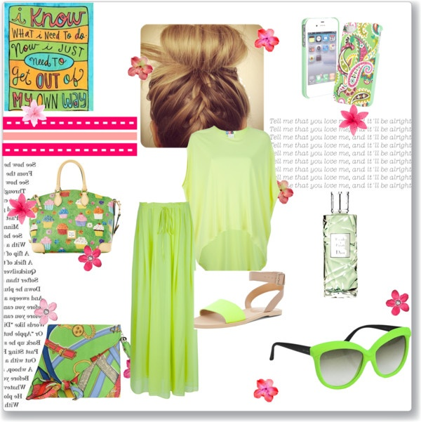 """""""fresh with green"""" by hildaolifia on Polyvore"""