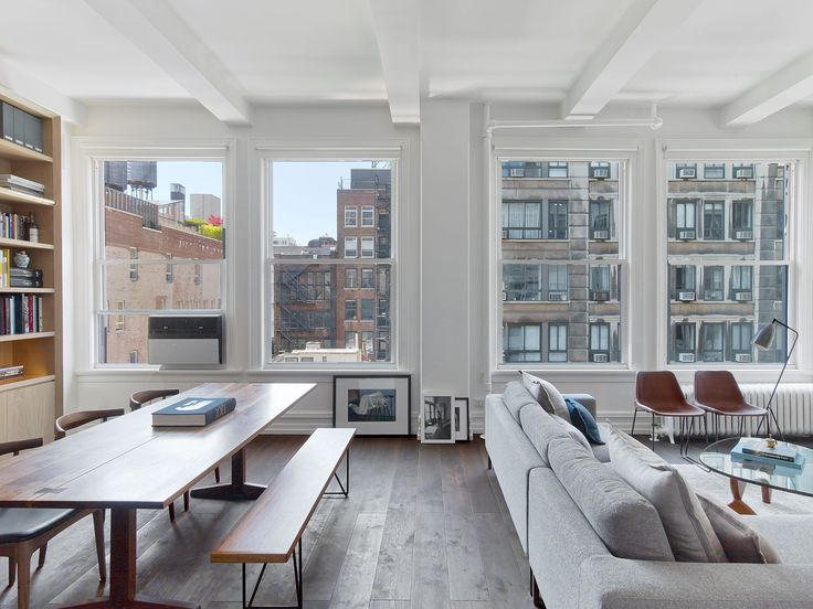 Brilliant....Minimalist New York City Apartment Filled with Natural Light  Dering Hall