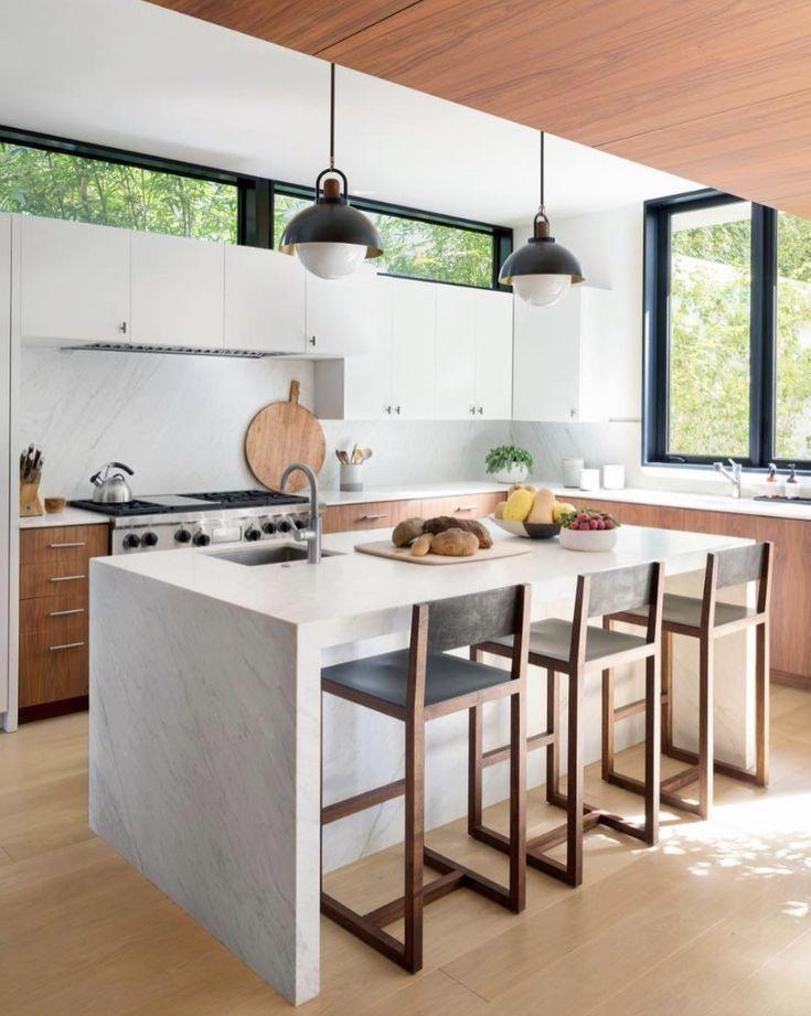 Scandinavian Painted Kitchen Cabinets In 2020 Modern Kitchen Design Kitchen Design Trends Interior Design Kitchen