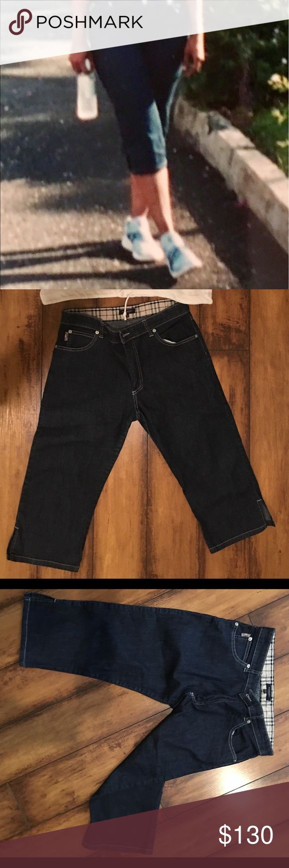 BURBERRY CAPRI JEANS Women's Burberry summer cropped Capri, used but in very good condition. Burberry Jeans Ankle & Cropped