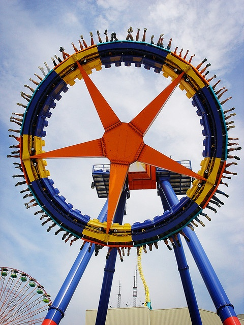 Cedar Point, Ohio, USA. haha this one makes me smile...look at all the feet!
