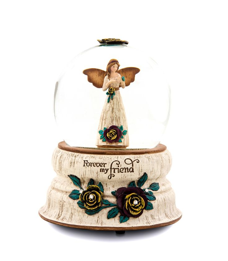 Musical Water Globes for Girls | this beautiful water glass globe is inscribed with the words