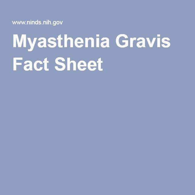 Myasthenia Gravis Fact Sheet