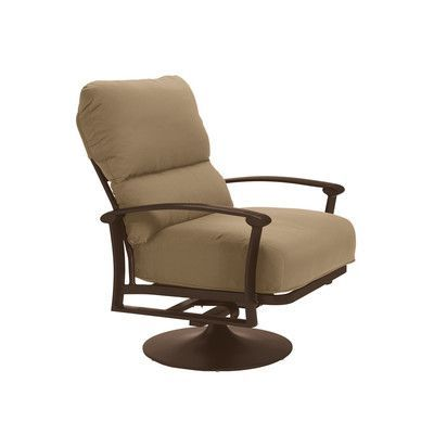Tropitone Ovation Action Lounge Chair with Cushion Finish: Greco, Fabric: Canvas Heather Beige