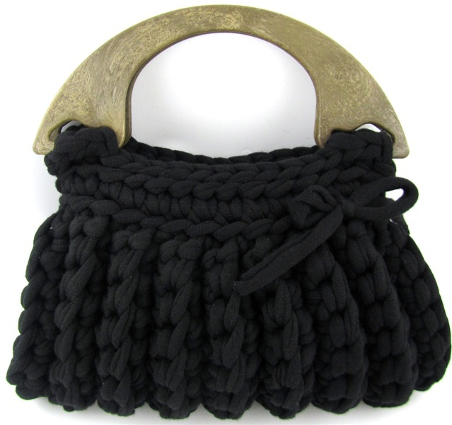 Zpagetti Bag Milano Bag Ready Made Black   Hoooked