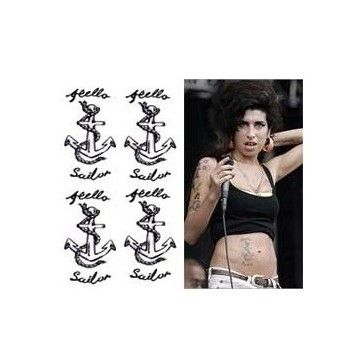 Tatouage temporaire ancre marine Amy Winehouse