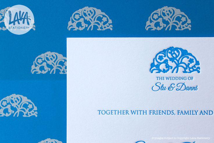 Custom letterpress and white ink printing :)  www.lavastationery.com.au