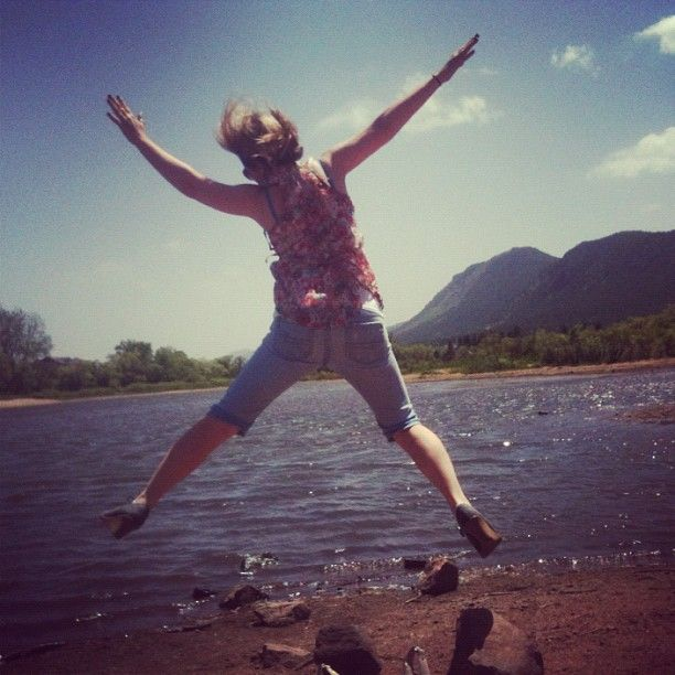 The Christy & Becky #EpicSaturdayAdventure gets a leaping head start at Palmer Lake! Get it Christy!Leap Head, Head Start