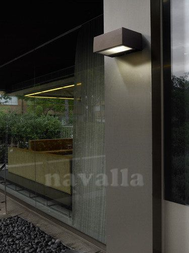 Choose wall light for outdoor use so that it won't fall into stereotypical solutions. Select it so that it fits your style, your house and that you won't find it in any garden. One of these nice wall lights is - LEDS-C4-05-9177-J6-B8 :)