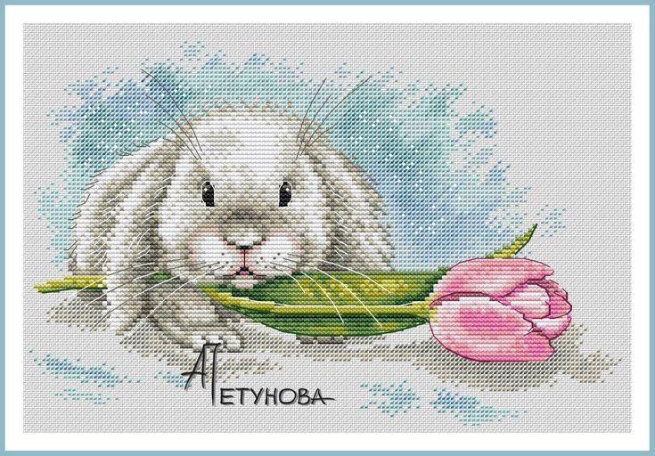 Кролик с тюльпаном   Petunia gallery