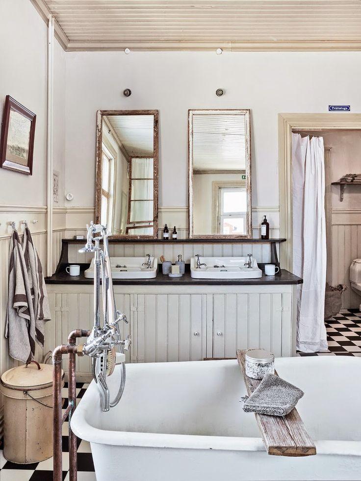 [Vintage] Una reforma de baño en estilo vintage rústico