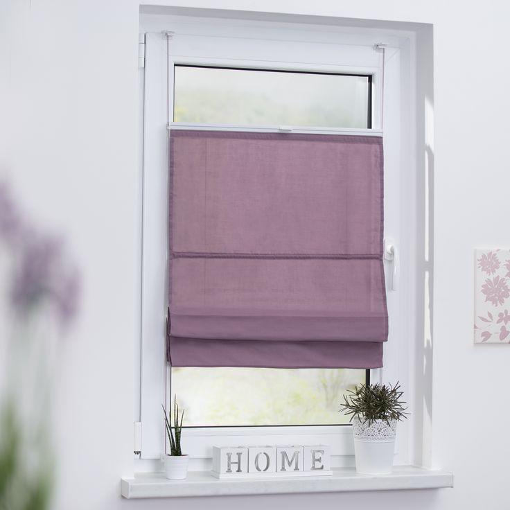 Raffrollo Klemmfix TOP, ohne Bohren, verspannt in Pastell. Faltenrollo zum Klemmen für Fenster und Türen. Einfache Montage - ohne Bohren!