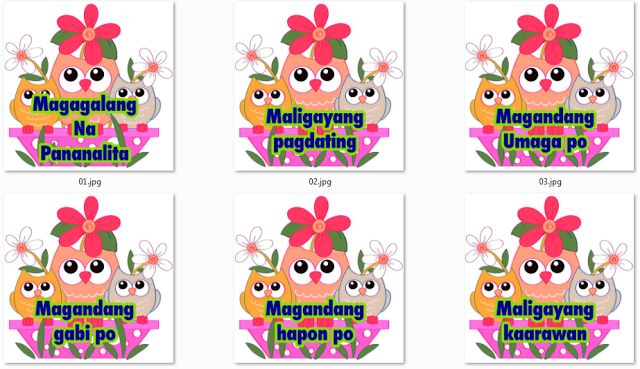 Filipino Magagalang na Pananalita IM's - DepEd LP's