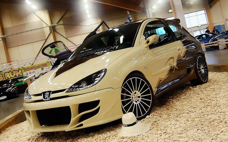 Modified Peugeot 206 GTI 2001 Front Angle