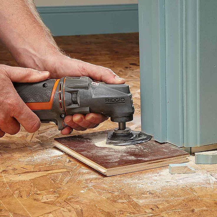 Faster Flooring Prep - Tips for Using an Oscillating Tool: It's a tool you shouldn't be without http://www.familyhandyman.com/tools/power-tools/oscillating-tool-uses#4