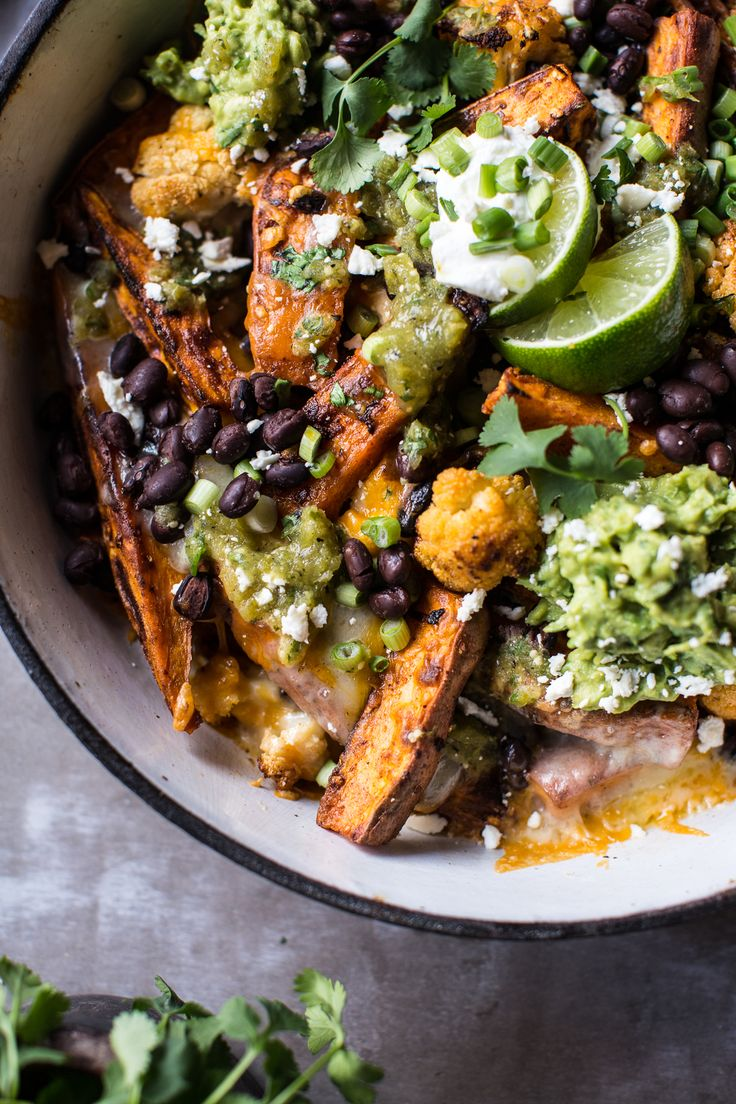 Sweet Potato and Black Bean Nachos with Green Chile Salsa | halfbakedharvest.com @hbharvest