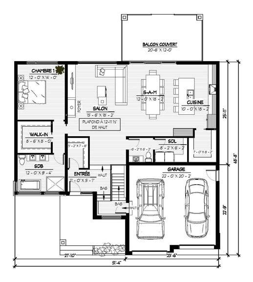 1000 id es sur le th me modele maison plain pied sur for Plan maison moderne 110m2