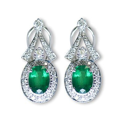 This is another dazzling color gemstone earrings - Parris Jewelers #jewelry