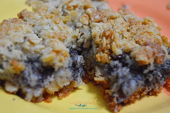 Almás-mákos zabpelyhes szelet | Életszépítők