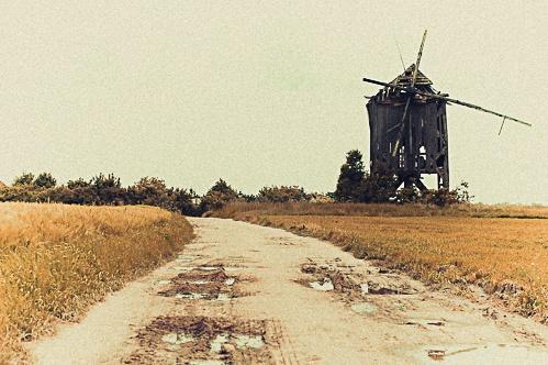 One old windmill. More here -> http://www.fotografia.bartoszkoplin.pl/2013/06/16/polskie-drogi/