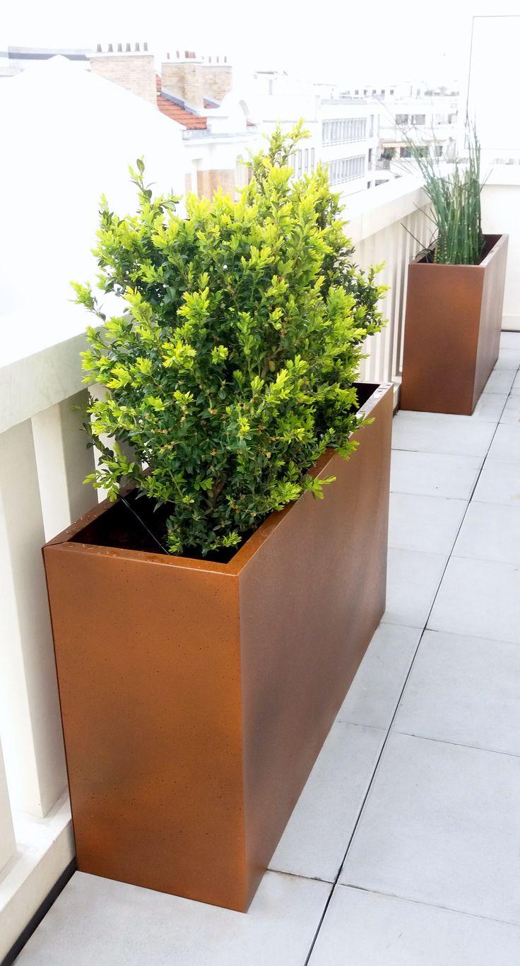 jardinire haute et troite simple garland table de rcupration xxcm l table de culture soucoupe. Black Bedroom Furniture Sets. Home Design Ideas