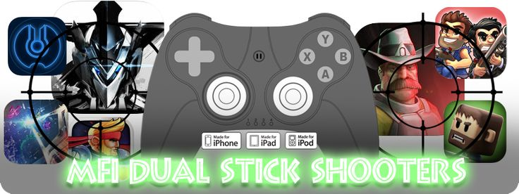 An upto-date comprehensive list of Dual Stick Shooting games to play with your MFi Game Controller! (Click on Pic to link to List)