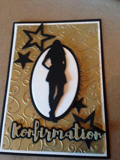 Konfirmation i sort, hvid og guld | Worsøe Scrap | Bloglovin'