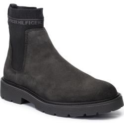Tommy Hilfiger Chelsea-Boots mit Streifendetail – Schwarz Tommy HilfigerTommy Hilfiger