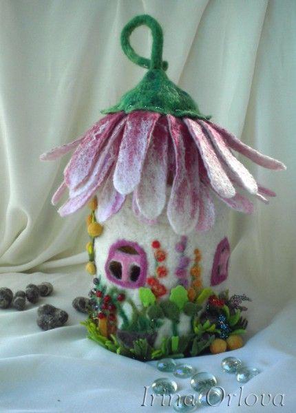 Felt Fairy House by Irina Orlova ♥                                                                                                                                                      More