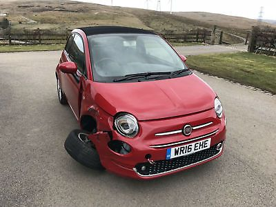eBay: Fiat 500C 1.2 S/S LOUNGE 2016 (16) DAMAGED REPAIRABLE #carparts #carrepair